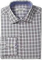 Perry Ellis Men's Slim-Fit Wrinkle-Free Glen-Plaid Dress Shirt