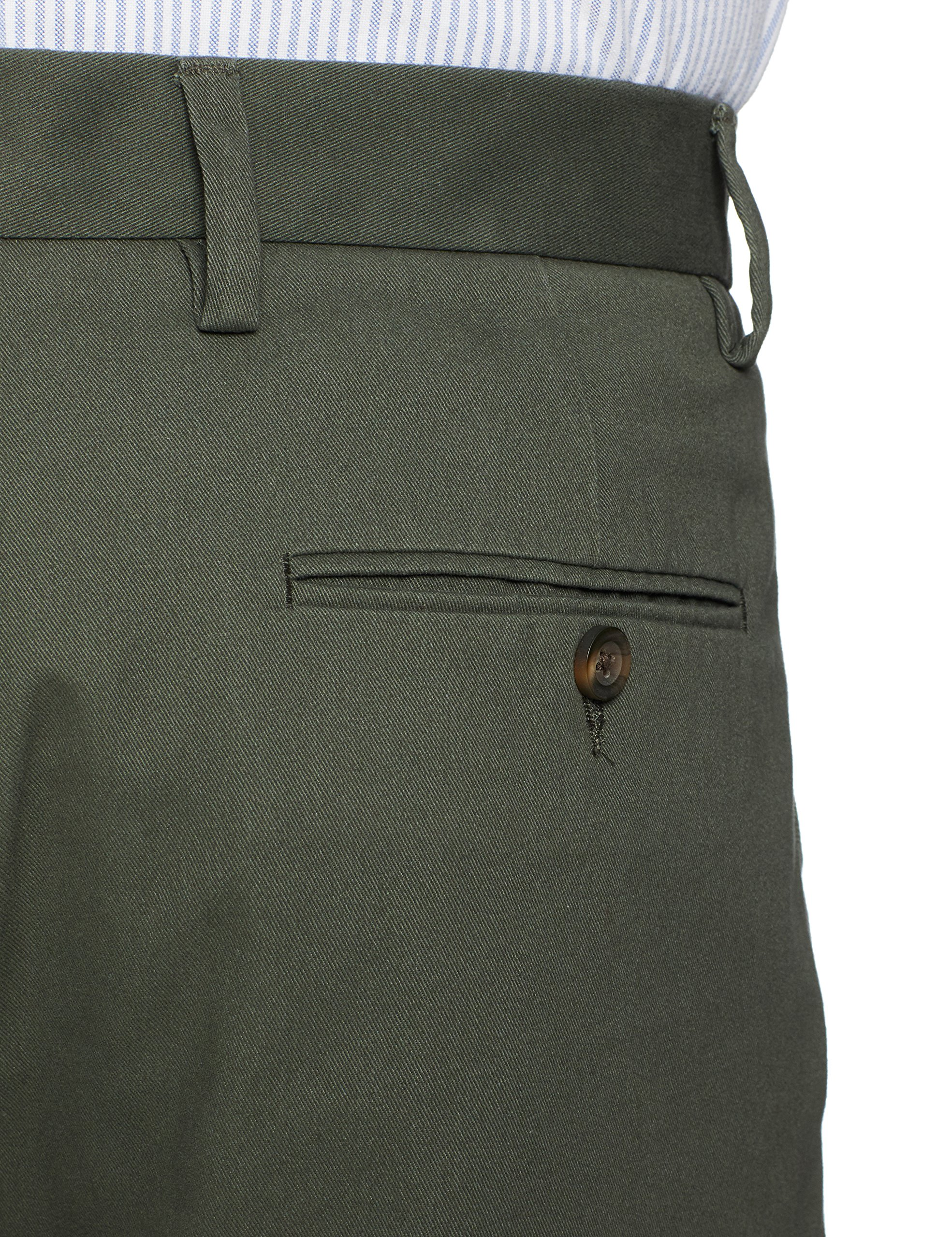 Amazon Essentials Men's Classic-Fit Wrinkle-Resistant Pleated Chino Pant, Olive, 36W x 32L by Amazon Essentials (Image #5)