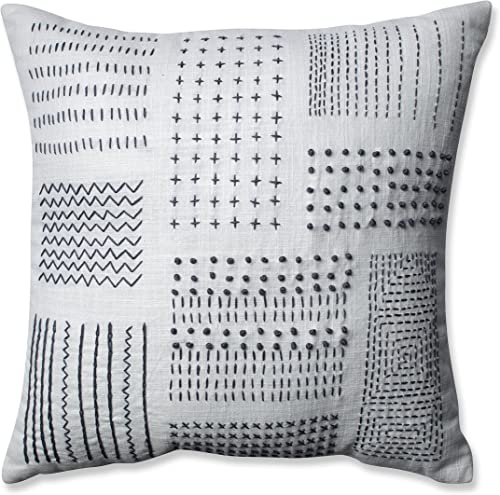 Pillow Perfect Tribal Sampler Throw Pillow, 16.5 , Cream Gray