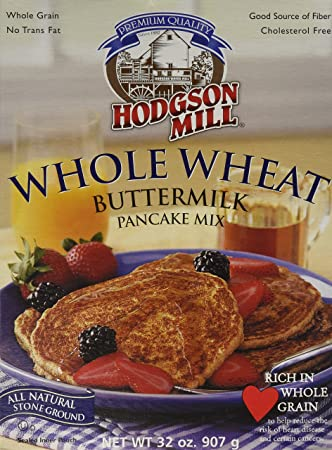 Amazoncom Hodgson Mill Pancake Flour Whole Wheat Buttermilk 32