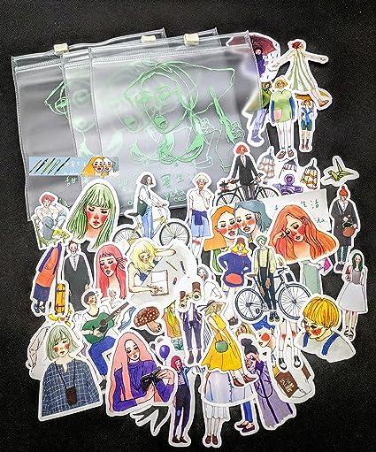 (Girl Set 30 + Zipper Bag) Planner Stickers Fashion Model Stickers for Planners Organizer Agenda Die Cut