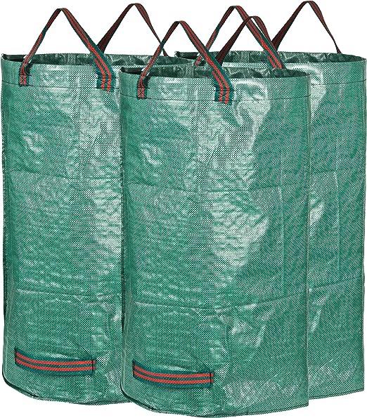 GardenMate - 3 Sacos de jardín 120L, Tejido de polipropileno (PP), Verde: Amazon.es: Jardín
