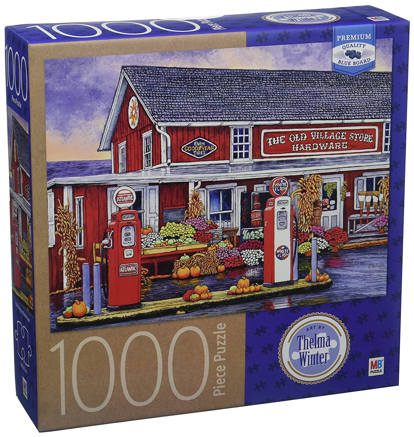 6040851 1000 Piece Cardinal Industries  Thelma Winter Old Village Bird-in-Hand PA Hardware Store Puzzle
