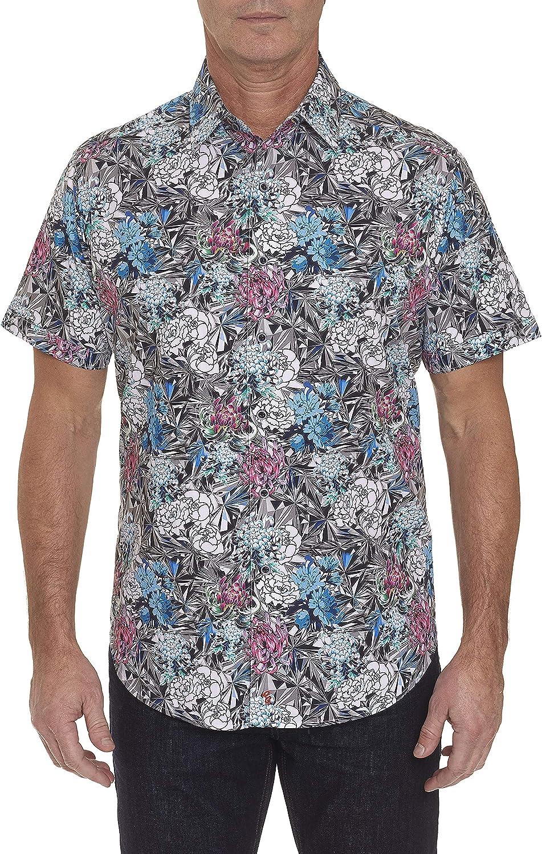 Robert Graham Hide and Seek Printed Short Sleeve Sport Shirt Classic Fit