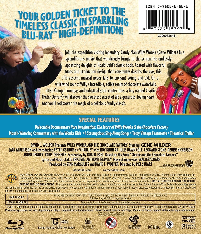 Amazon.com: Willy Wonka & the Chocolate Factory [Blu-ray]: Gene ...
