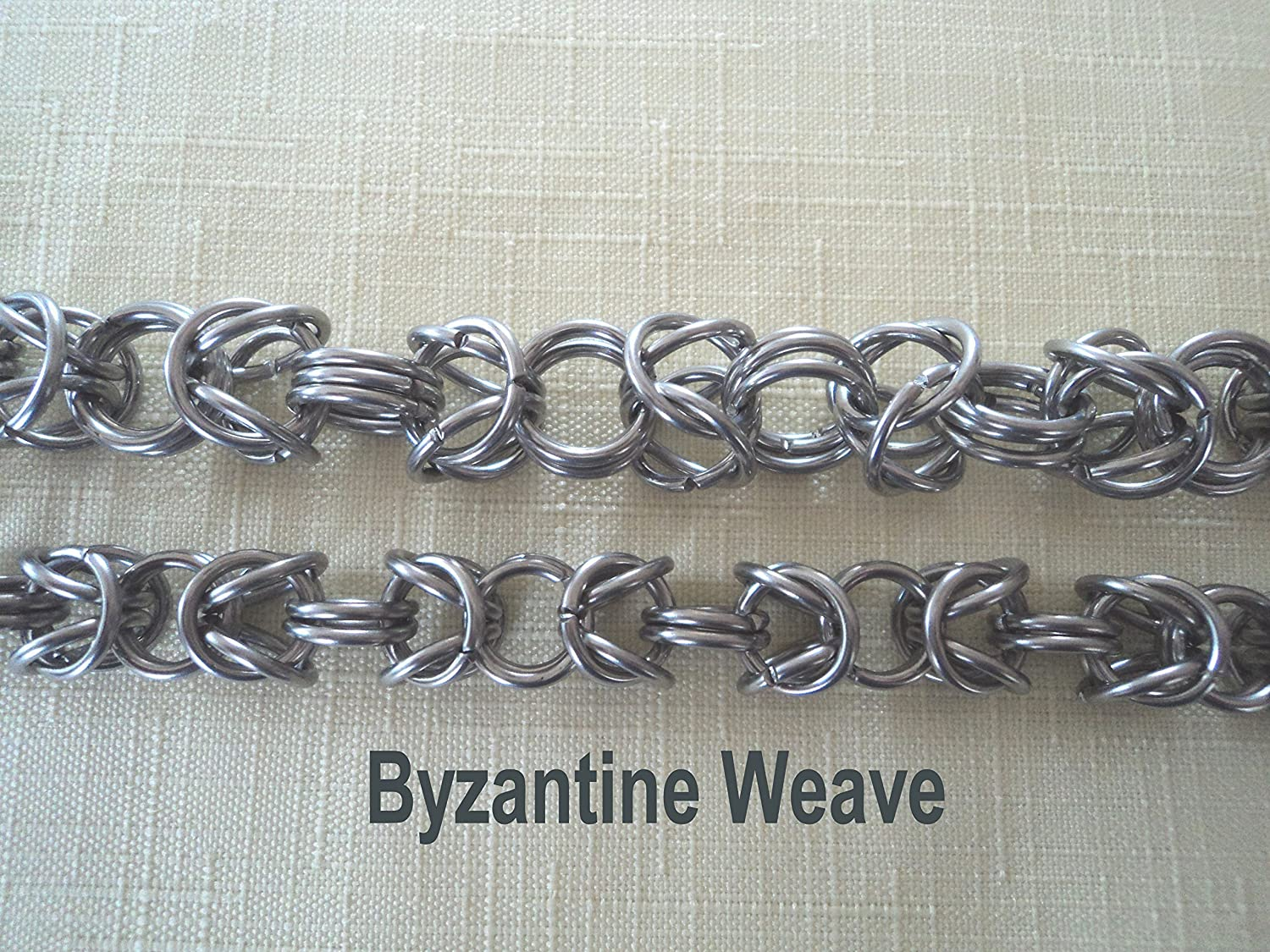 B01H5I0K4A 25 in Byzantine weave stainless steel wallet chain chainmail chain maille key chain biker A1y82NTmrLL