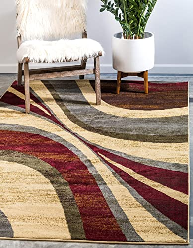 Unique Loom Barista Collection Abstract Modern Contemporary Beige Area Rug 2' 2 x 3' 0