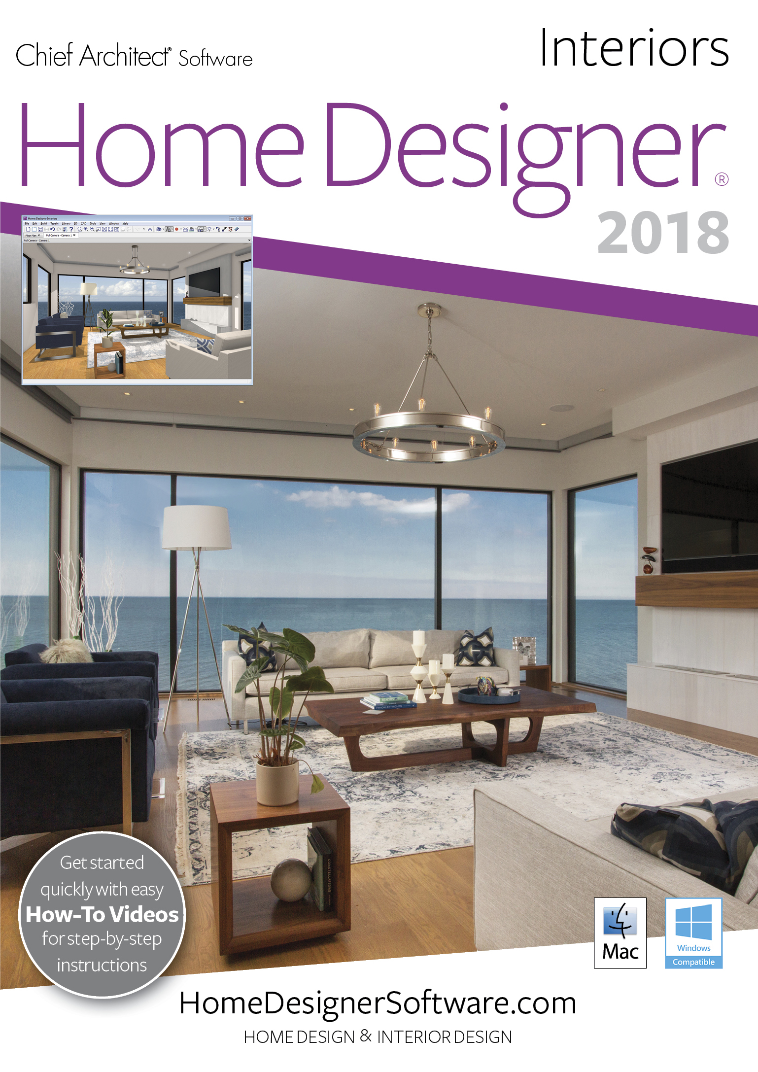 Home Designer Interiors 2018 - Mac Download [Download] by Chief Architect