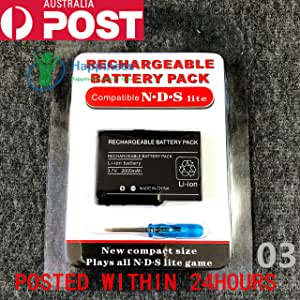 New Rechargable Battery Pack for Nintendo DS Lite 3.7V 2000mAh