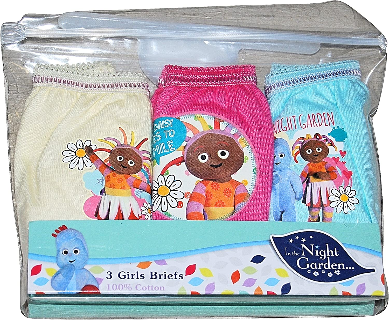 GIRLS IN THE NIGHT GARDEN KNICKERS AGE 2-3 YEARS 3 PACK BABY UPSY DAISY