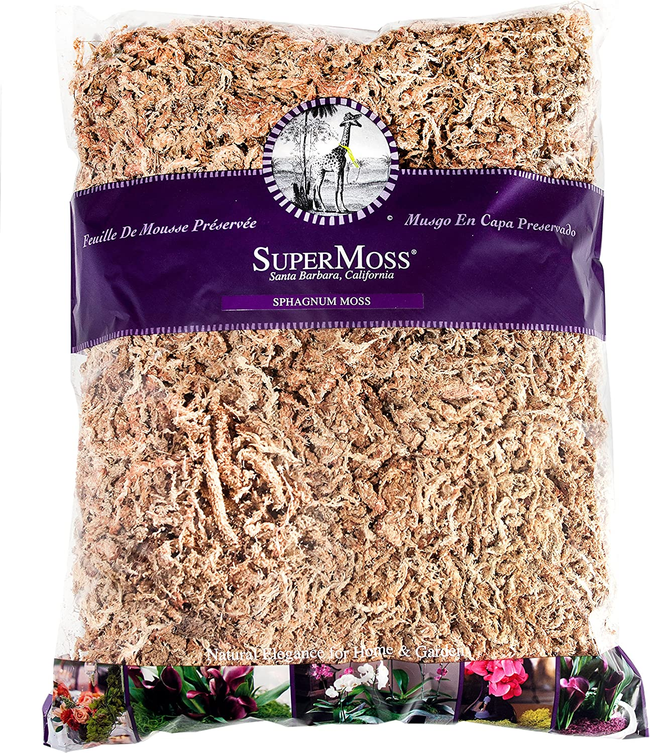 SuperMoss Orchid Sphagnum Moss For Orchids Venus Fly Traps Hanging Baskets 1lb