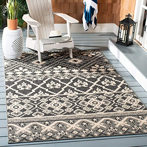 Persian-Rugs 4620 Distressed Blue 8 9 x 12 6 Area Rug Carpet Large