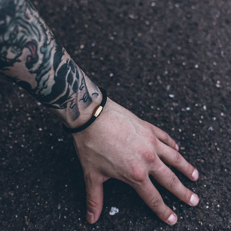 5 mm Or Fermeture Magn/étique Bracelets Femmes Hommes Bracelet en Acier Inoxydable Simple Akitsune Silva Bracelet Nylon