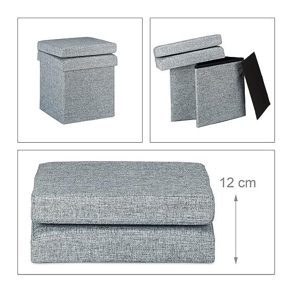 Relaxdays Faltbarer Sitzhocker Mit Lehne HBT 73 X 38 X 38 Cm Stabiler  Sitzcube Mit Praktischer