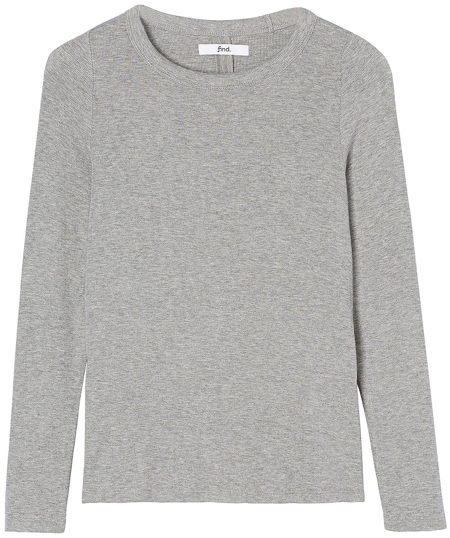 FIND Womens Long Sleeve Crew Neck T-Shirt