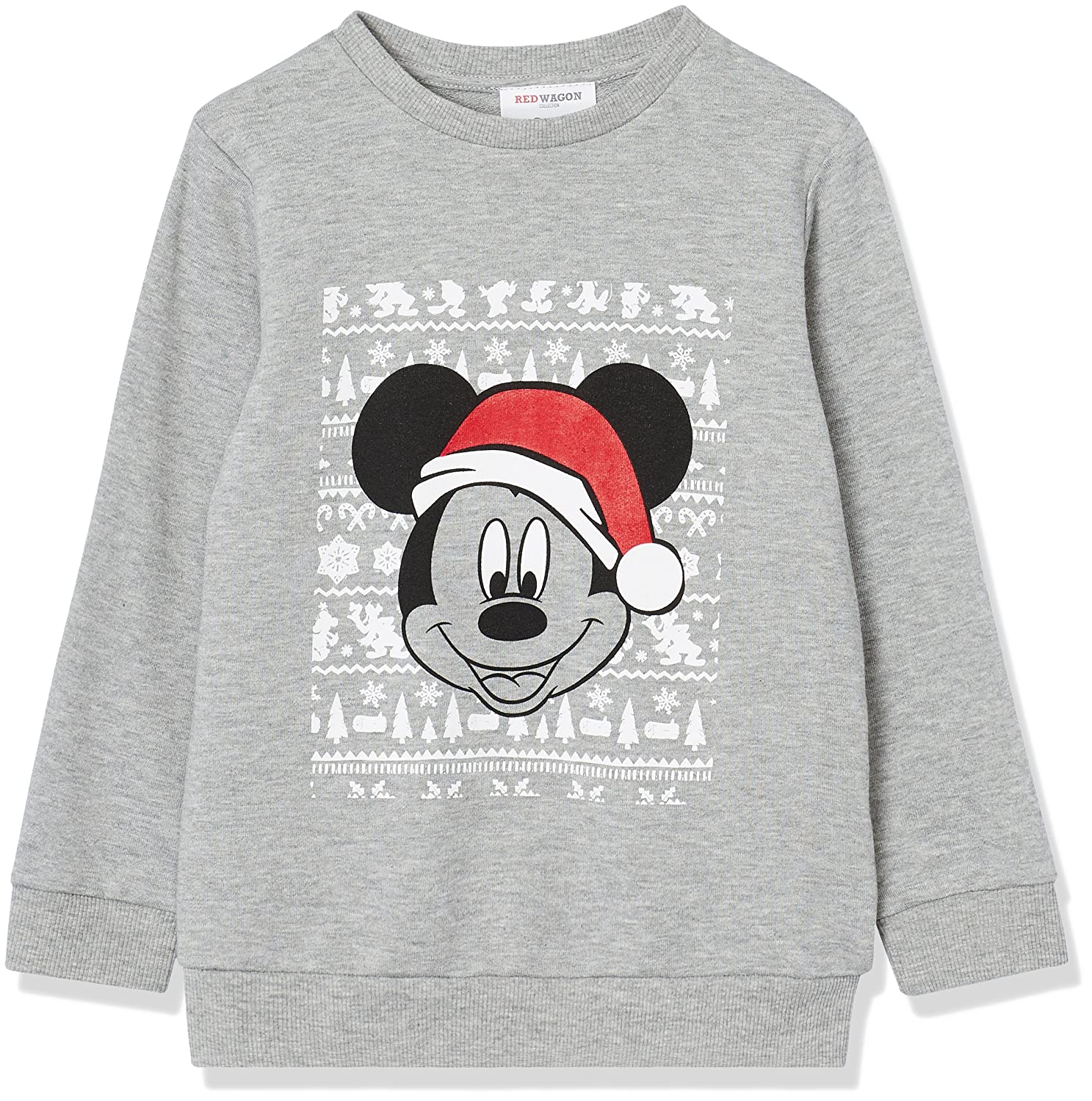RED WAGON Jungen Pullover Mickey Mouse, Grau (Grey Marl 001