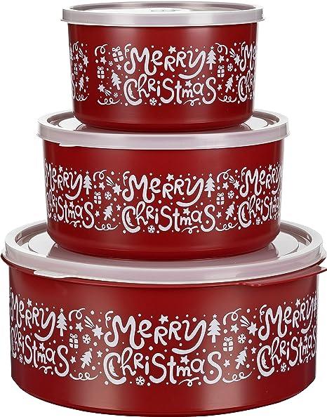 Presupuesto lata Cajas para galletas Bote para galletas (Juego de 3 redondo 1,5l/2,5 l/5 l: Amazon.es: Hogar