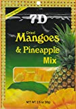 7D Dried Mangoes & Pineapple Mix 80g (Product of Cebu, Philippines) (5 packs)