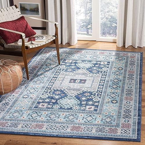 Safavieh Kazak Collection KZK122B Traditional Non-Shedding Stain Resistant Living Room Bedroom Area Rug