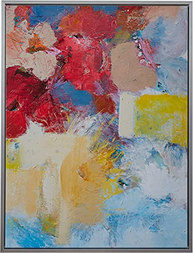 Amazon Brand Stone Beam Abstract Red and Blue Print on Canvas Wall Art