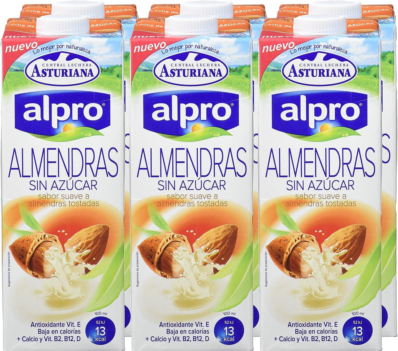 Alpro Central Lechera Asturiana Bebida de Almendra Sin Azúcar - Paquete de 8 x 1000 ml - Total: 8000 ml: Amazon.es: Alimentación y bebidas