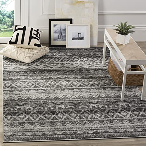 Safavieh Adirondack Collection ADR119N Modern Bohemian Area Rug, 6 x 9 , Ivory Charcoal
