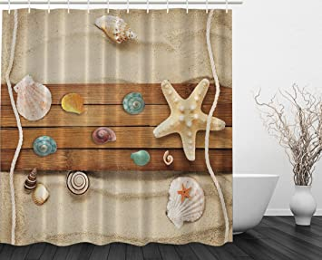 Amazon.com: Better Curtains Sea Creatures Themed Print Polyester ...