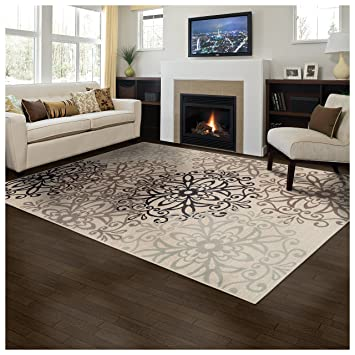 Superior Elegant Leigh Collection Area Rug, 8mm Pile Height With Jute  Backing, Chic Contemporary