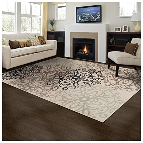 Superior Elegant Leigh Collection Area Rug 8mm Pile Height With Jute Backing Chic Contemporary