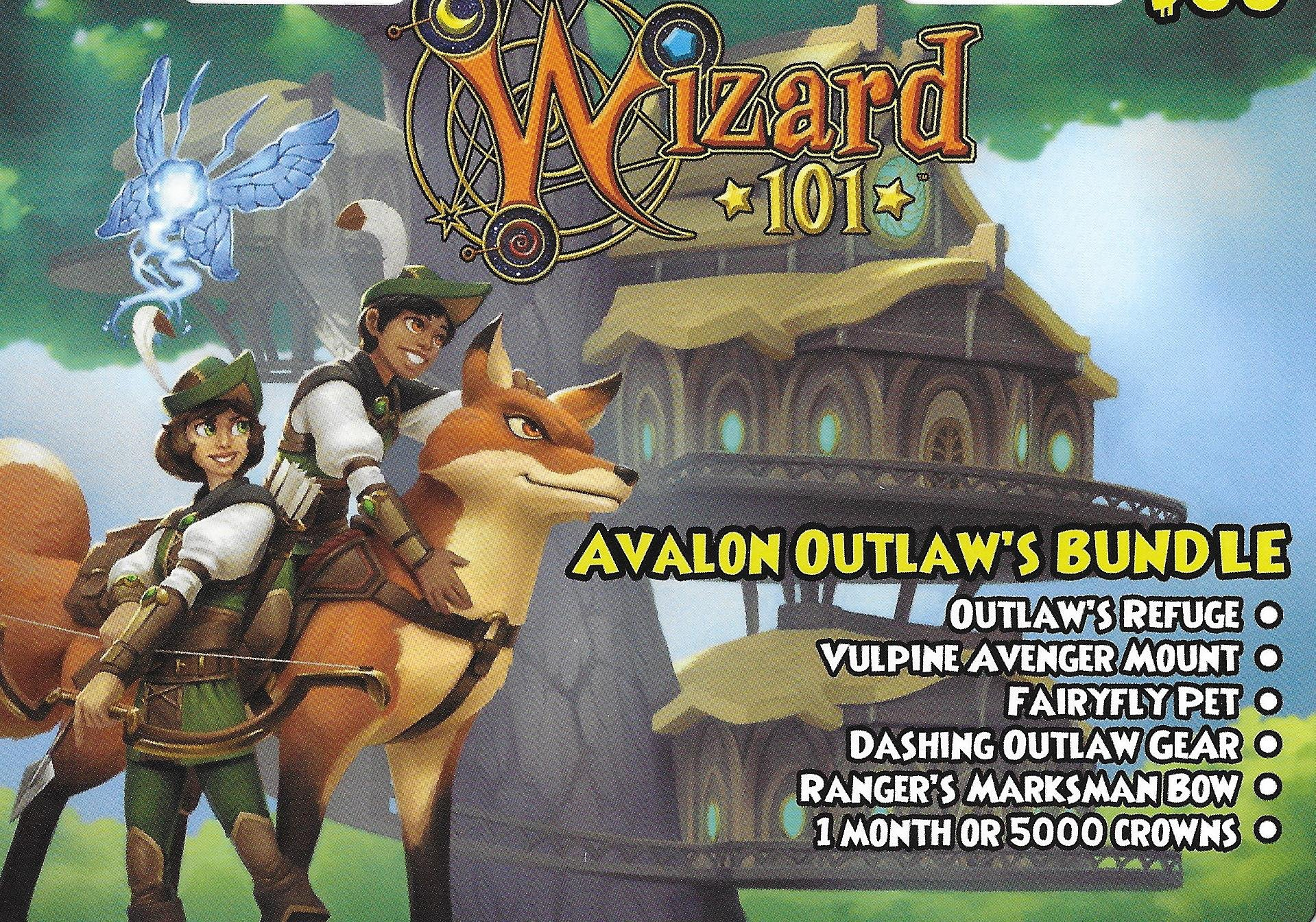 Amazon com: Wizard 101 Avalon Outlaw's Bundle Prepaid Game Card