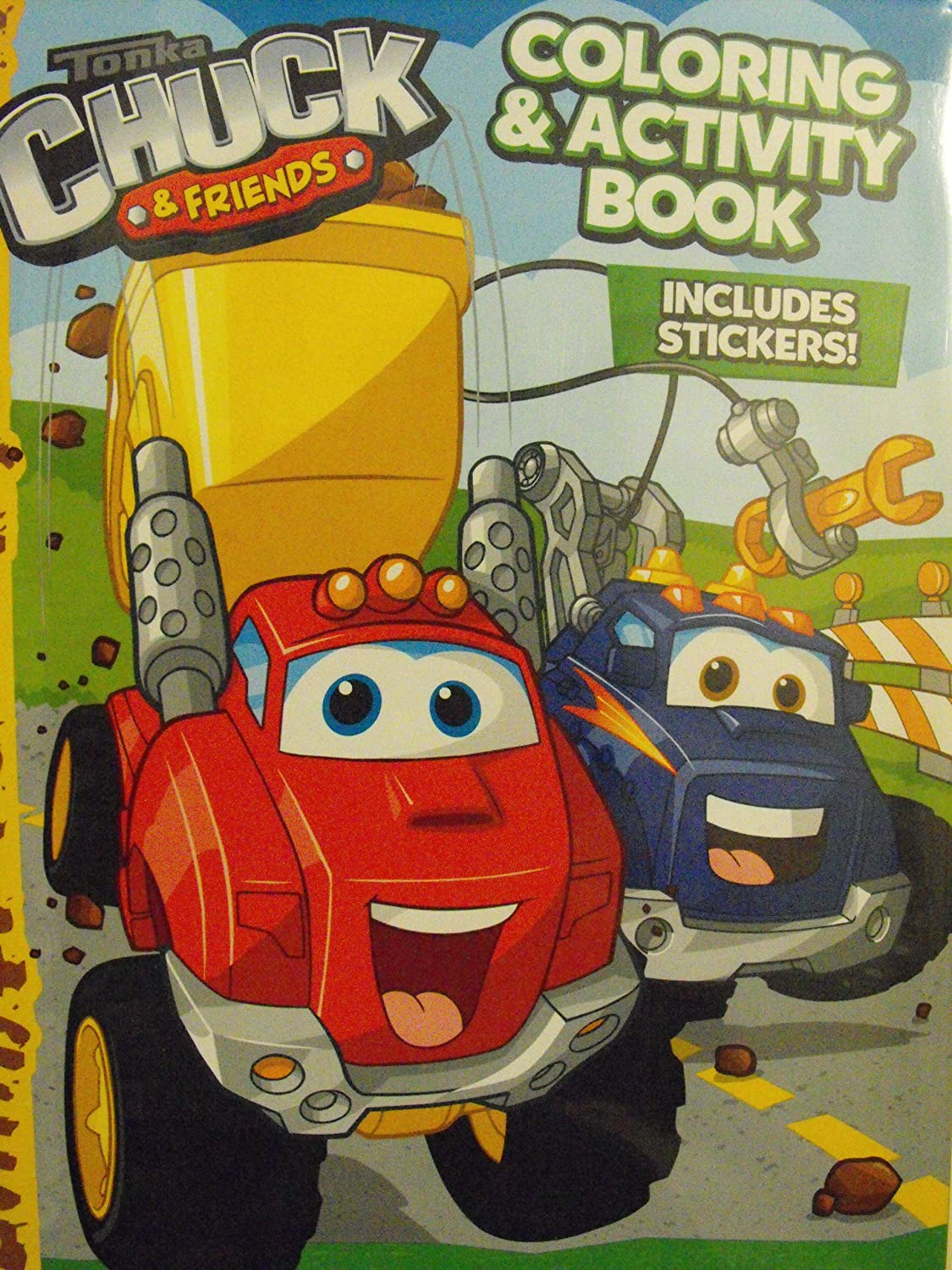 Amazon Tonka Chuck And Friends Coloring Activity Book 144 Pg With Stickers Toys Games