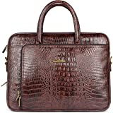 The Clownfish Leatherette 10 Ltr Brown Laptop Briefcase