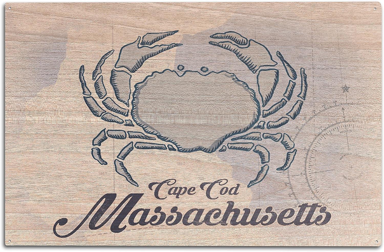 Blue Crab Cape Cod Massachusetts 24x36 Giclee Gallery Print, Wall Decor Travel Poster Coastal Icon