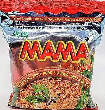 MAMA Ramen Style Instant Oriental Noodles Spicy Pork Flavor 10 Pack