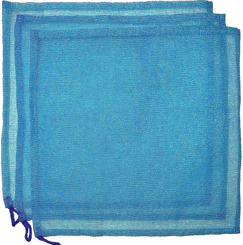Salux Nylon bath towel 3pcs blue