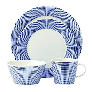 Royal Doulton 40009463 Pacific  Dots Place Setting, White , 4 Piece