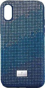 SWAROVSKI Crystalgram Smartphone Case with Bumper, iPhone Xs Max, Blue