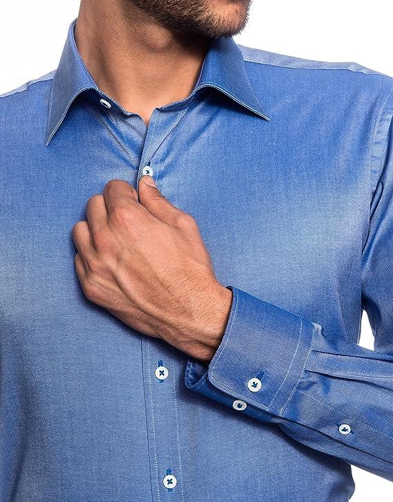 EMBRAER Camisa de Hombre, Ajustada Entallada (Slim-fit ...