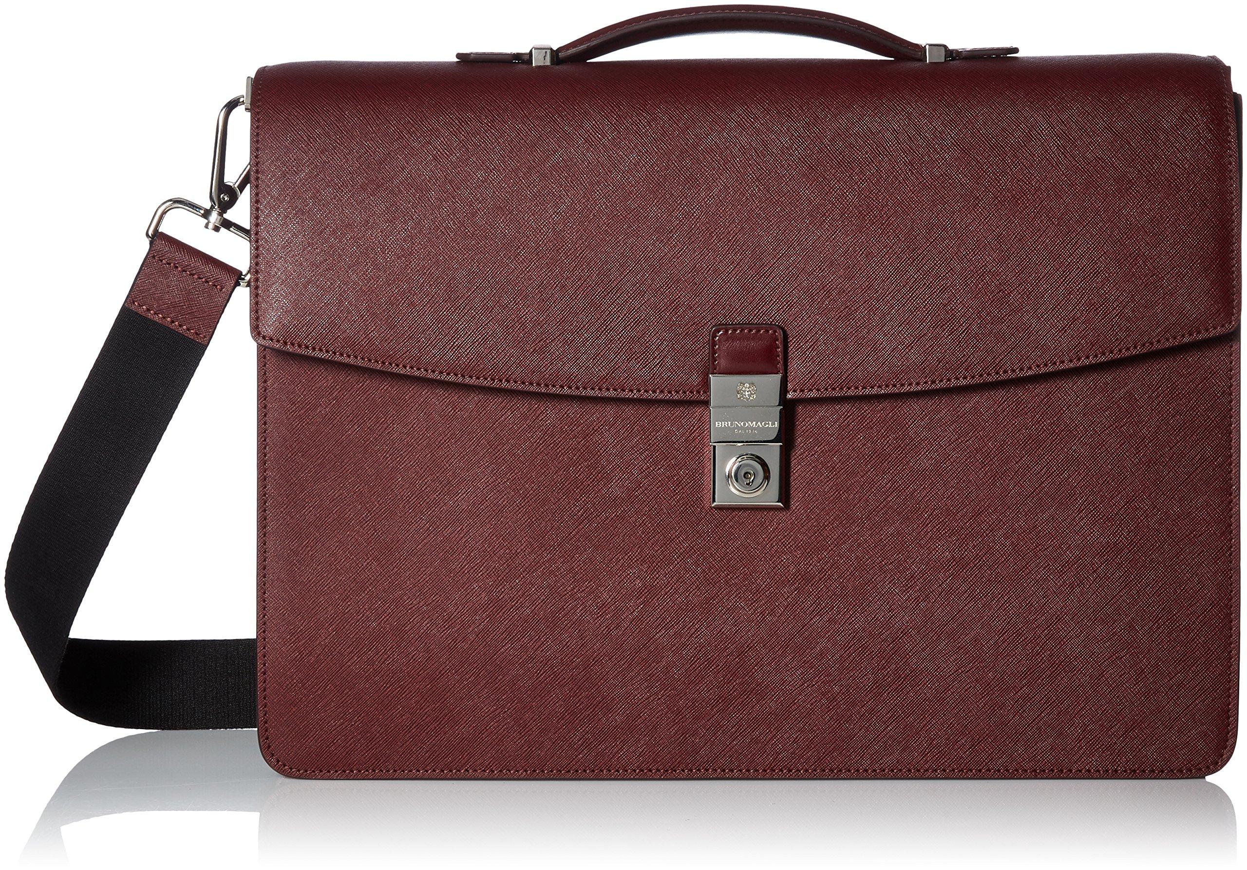 Bruno Magli Men's Neoclassico Briefcase, tan, One Size