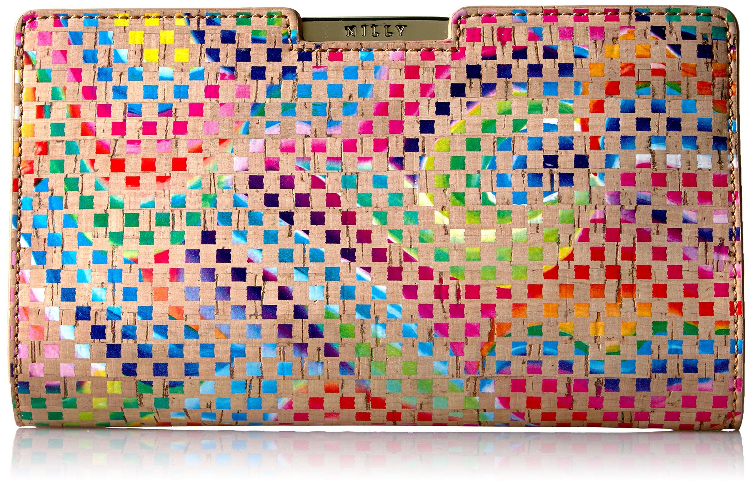 MILLY Geo Rainbow Sm Frame Clutch, Multi