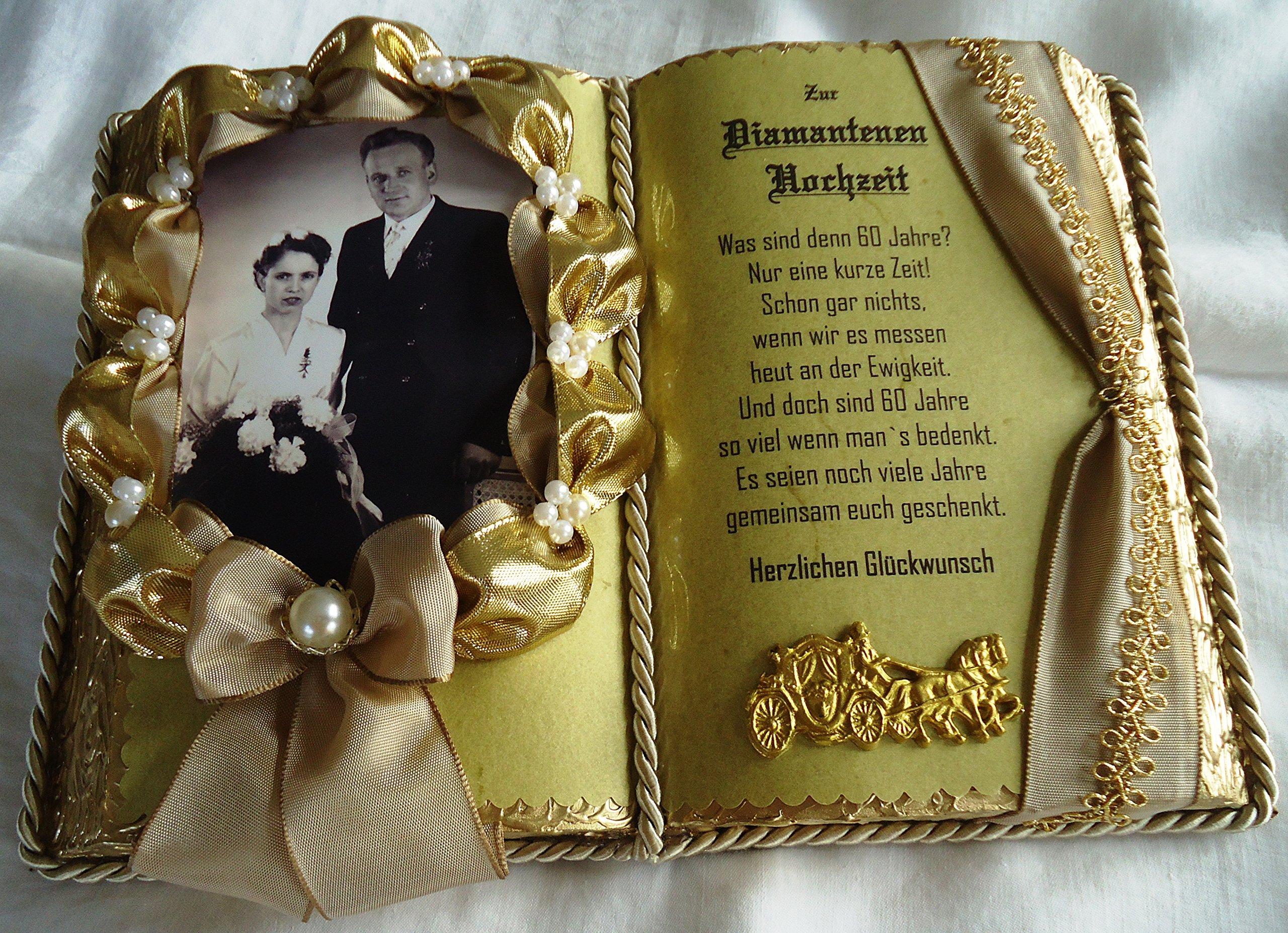 Diamantene Hochzeit 60 Jahriges Ehejubilaum Dekobuch Beige Gold