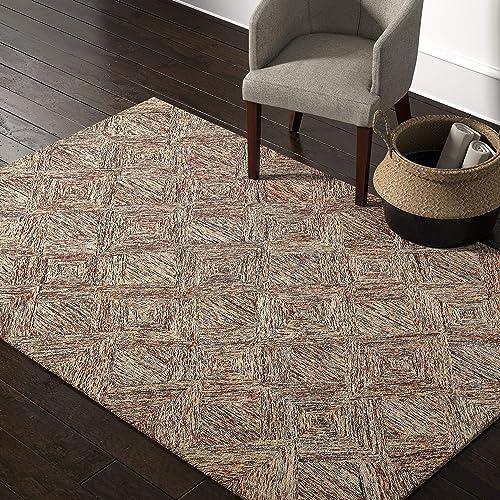 Amazon Brand Rivet Motion Modern Patterned Wool Area Rug