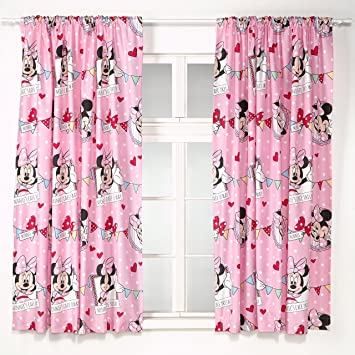 Disney 72-inch Minnie Mouse Cafe Curtains, Multi-Colour: Amazon.co ...