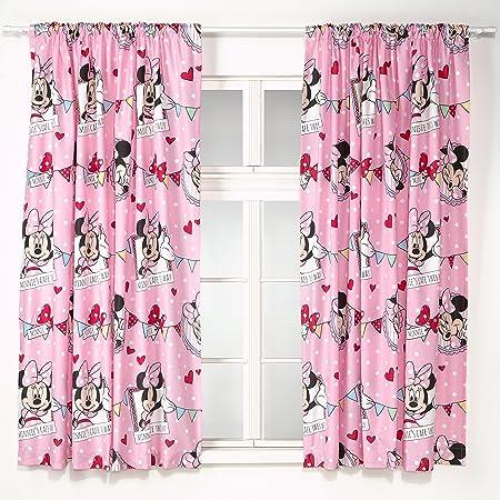 Good Disney 72 Inch Minnie Mouse Cafe Curtains, Multi Colour