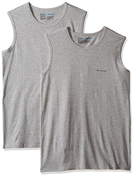 Columbia Camiseta de algod¨®n el¨¢stica de 2 pares para hombre