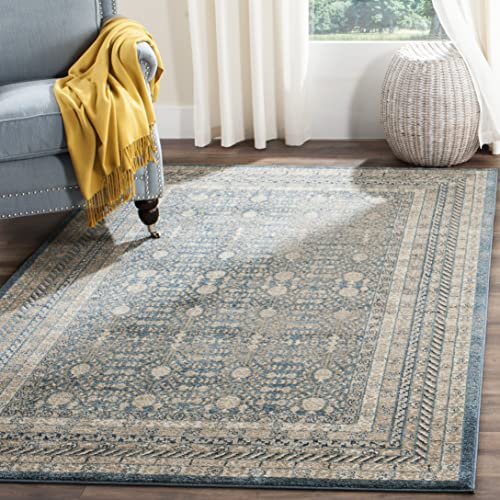 Safavieh Sofia Collection SOF376C Blue and Beige Area Rug 3 x 5