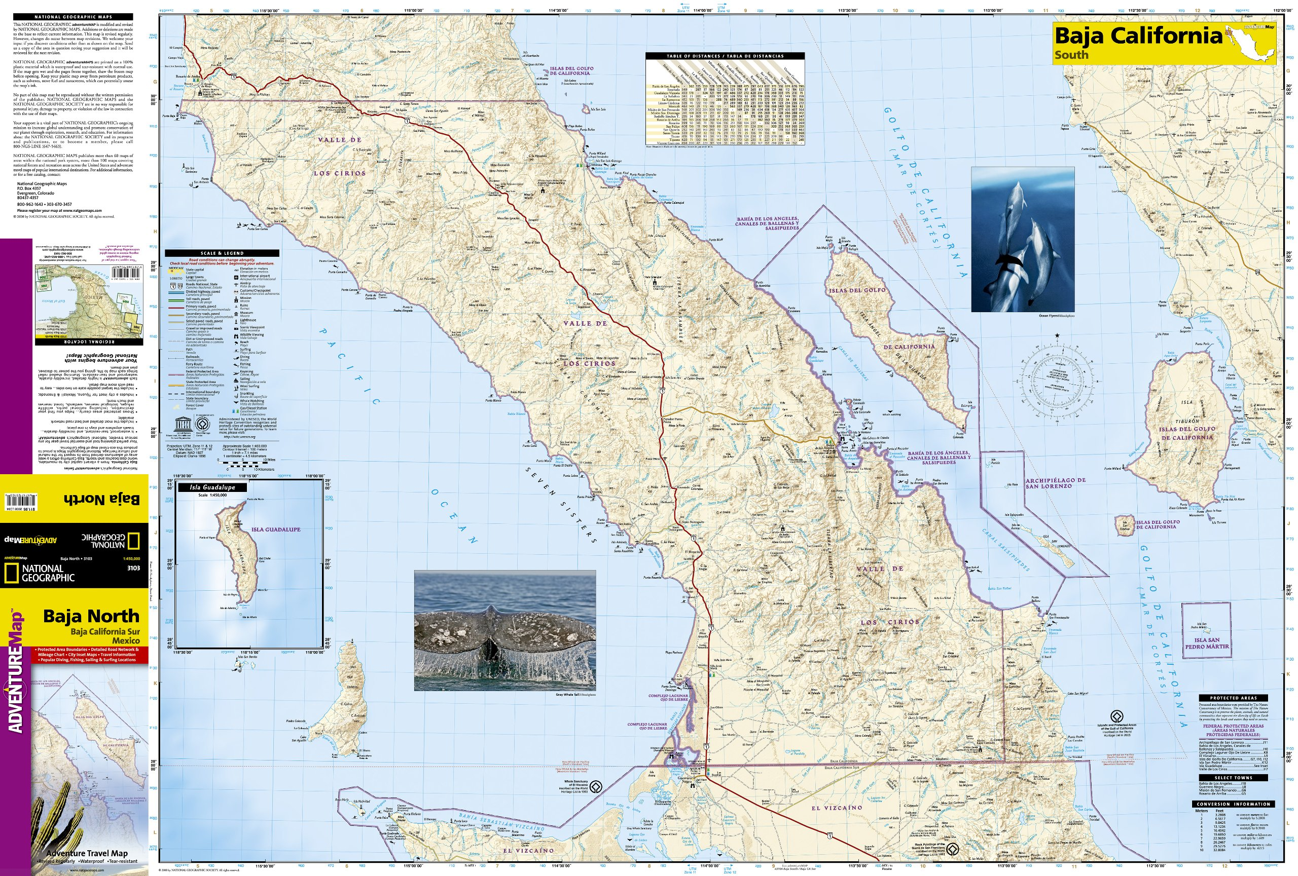 Baja California North: National Geographic Adventure Map: Amazon.de ...
