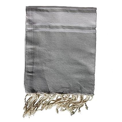 Toalla de baño de algodón de calidad – color gris claro – 100 x 180 cm