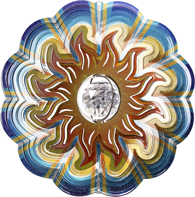 Iron Stop 25cm Crystal Sun Windspinner