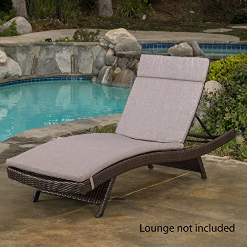 Christopher Knight Home Salem Outdoor Water Resistant Chaise Lounge Cushion, Charcoal